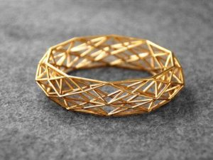3d printed brass jewelry