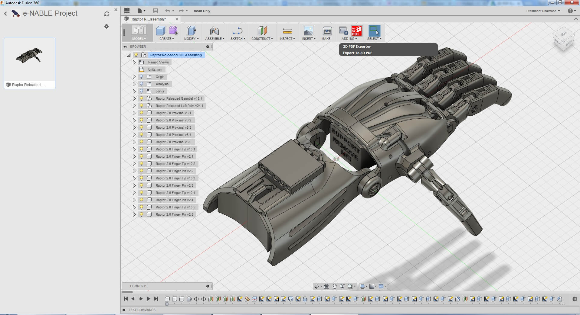 Fusion 360 3d modeling software