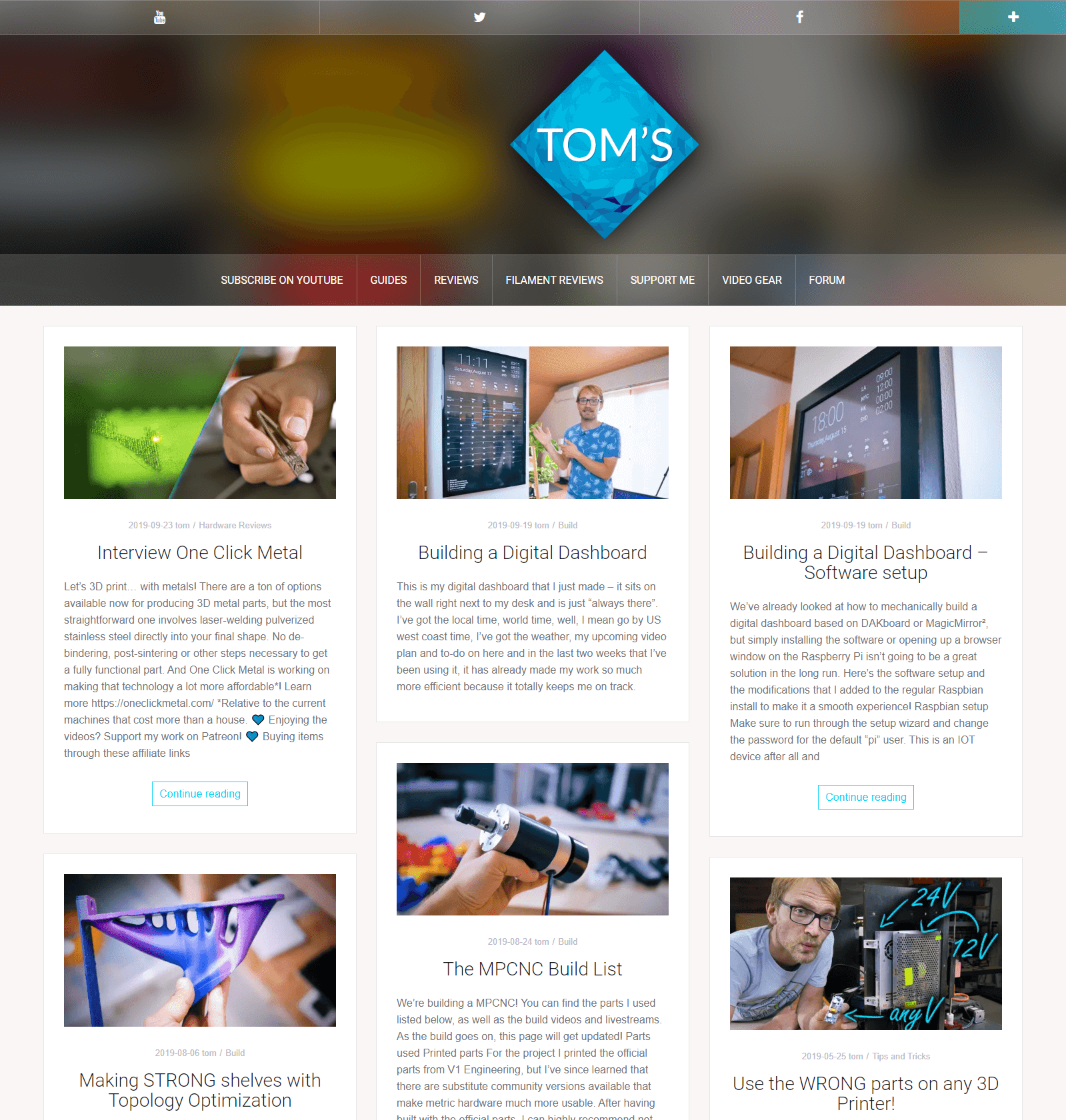 toms3d.org website